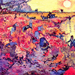 100% Hand Painted Oil on Canvas - The red vines by Van Gogh