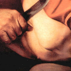 The Museum Outlet - The sacrifice of Isaac's detail by Caravaggio