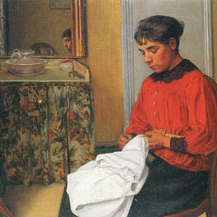 100% Hand Painted Oil on Canvas - The seamstress by Felix Vallotton