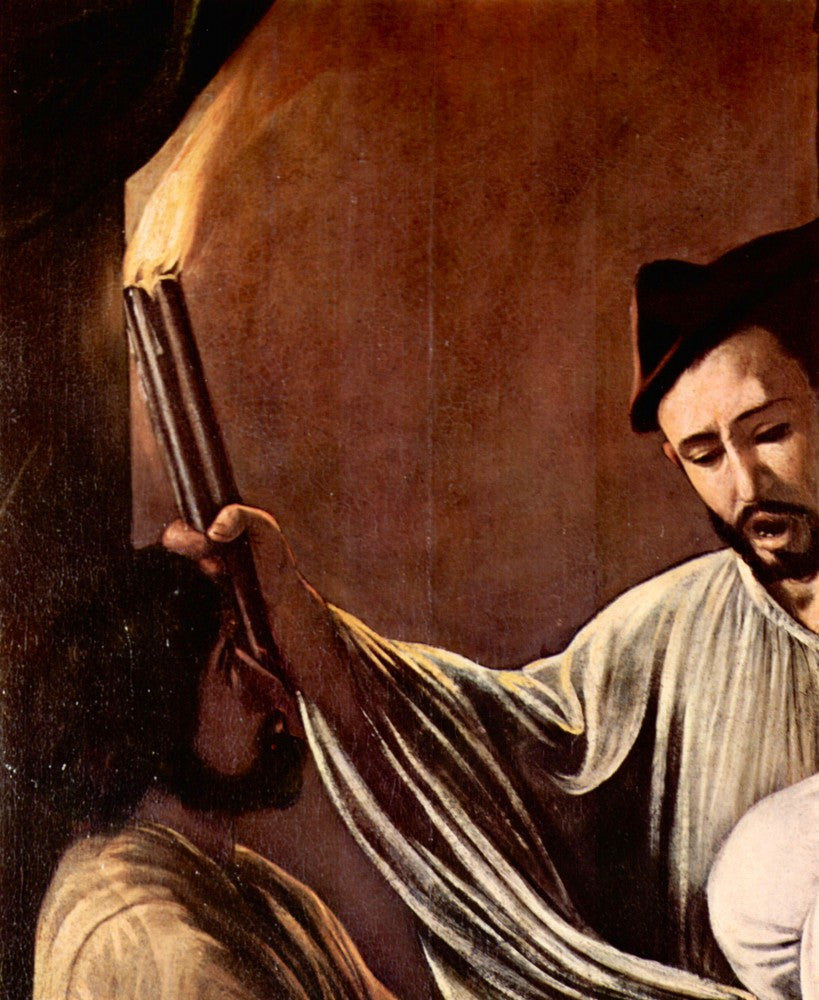 The Museum Outlet - The seven works of mercy detail by Caravaggio
