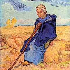 100% Hand Painted Oil on Canvas - The shepherdess by Van Gogh