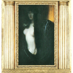 100% Hand Painted Oil on Canvas - The sin by Franz von Stuck