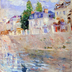 100% Hand Painted Oil on Canvas - The sky in Bougival by Morisot