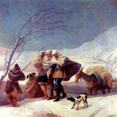 The Museum Outlet - The snowstorm by Goya