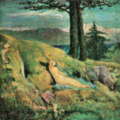 100% Hand Painted Oil on Canvas - The source by Giovanni Segantini