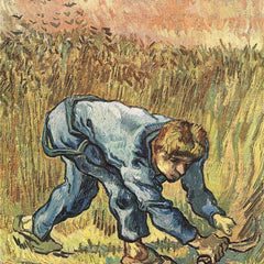 100% Hand Painted Oil on Canvas - The sower with sickle by Van Gogh