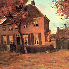 100% Hand Painted Oil on Canvas - The vicarage of Neunen by Van Gogh