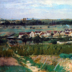 100% Hand Painted Oil on Canvas - The village at Maurecourt by Morisot