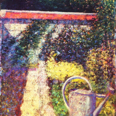 100% Hand Painted Oil on Canvas - The watering can by Seurat