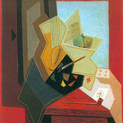 100% Hand Painted Oil on Canvas - The window of the painter by Juan Gris