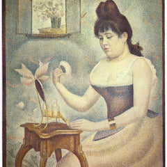 100% Hand Painted Oil on Canvas - The woman with the powder puff by Seurat