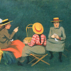 100% Hand Painted Oil on Canvas - The women by Felix Vallotton
