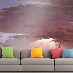 Roshni Arts - Curated Art Wall Mural - The wreck by Frederick Edwin Church | Self-Adhesive Vinyl Furnishings Decor Wall Art
