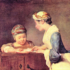 The Museum Outlet - The young teacher by Jean Chardin