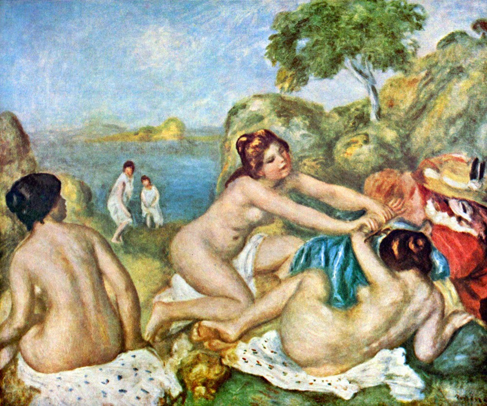 The Museum Outlet - Three bathing girls with crab by Renoir