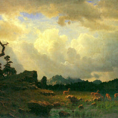 The Museum Outlet - Thunderstorms in the Rocky Mountains by Bierstadt