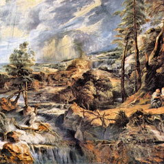 The Museum Outlet - Thunderstorms landscape with Philemon and Baucis by Rubens