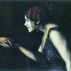100% Hand Painted Oil on Canvas - Tilla Durieux as Circe by Franz von Stuck
