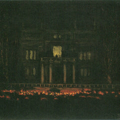 100% Hand Painted Oil on Canvas - Torches by Franz von Stuck
