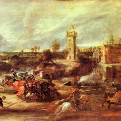 The Museum Outlet - Tournament at a castle by Rubens