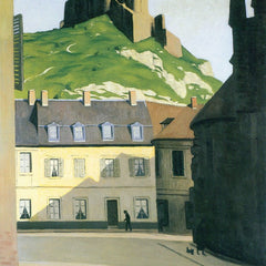 100% Hand Painted Oil on Canvas - Town square in Andlys by Felix Vallotton