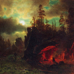 The Museum Outlet - Trapper's camp by Bierstadt