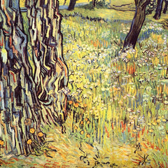 100% Hand Painted Oil on Canvas - Tree trunks by Van Gogh