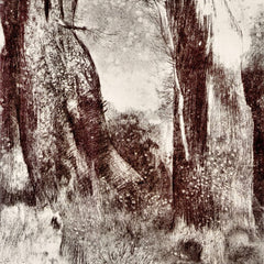 The Museum Outlet - Trunks in the forest by Odilon Redon