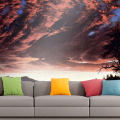 Roshni Arts - Curated Art Wall Mural - Twilight in the Wilderness by Frederick Edwin Church | Self-Adhesive Vinyl Furnishings Decor Wall Art
