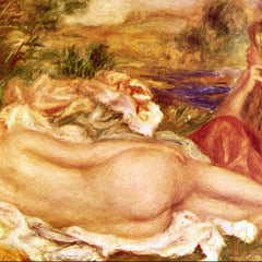 100% Hand Painted Oil on Canvas - Two Bathers by Renoir