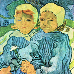 100% Hand Painted Oil on Canvas - Two Children by Van Gogh