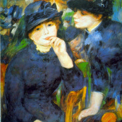 100% Hand Painted Oil on Canvas - Two Girls by Renoir