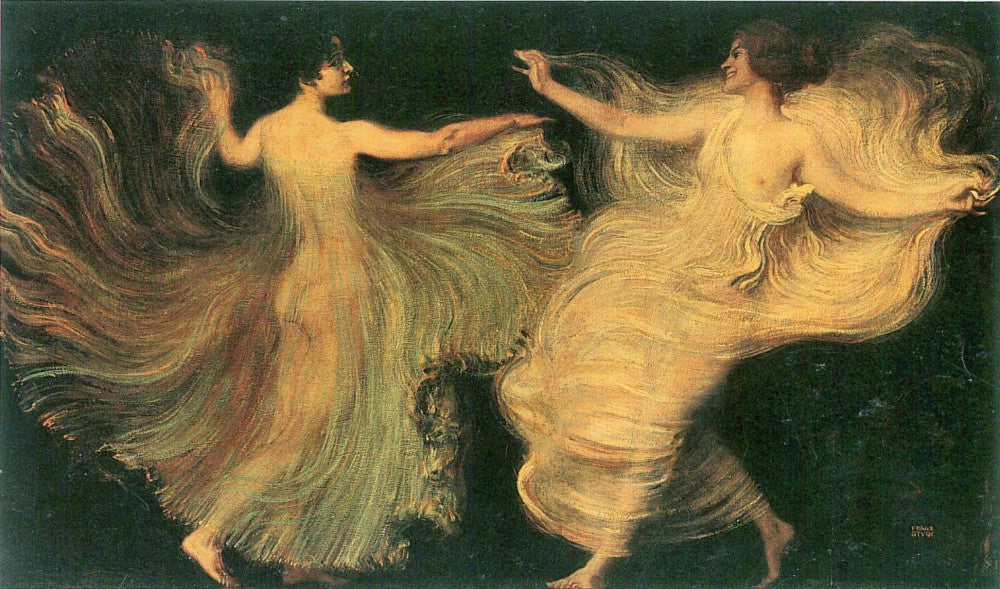 The Museum Outlet - Two dancers by Franz von Stuck