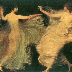 100% Hand Painted Oil on Canvas - Two dancers by Franz von Stuck