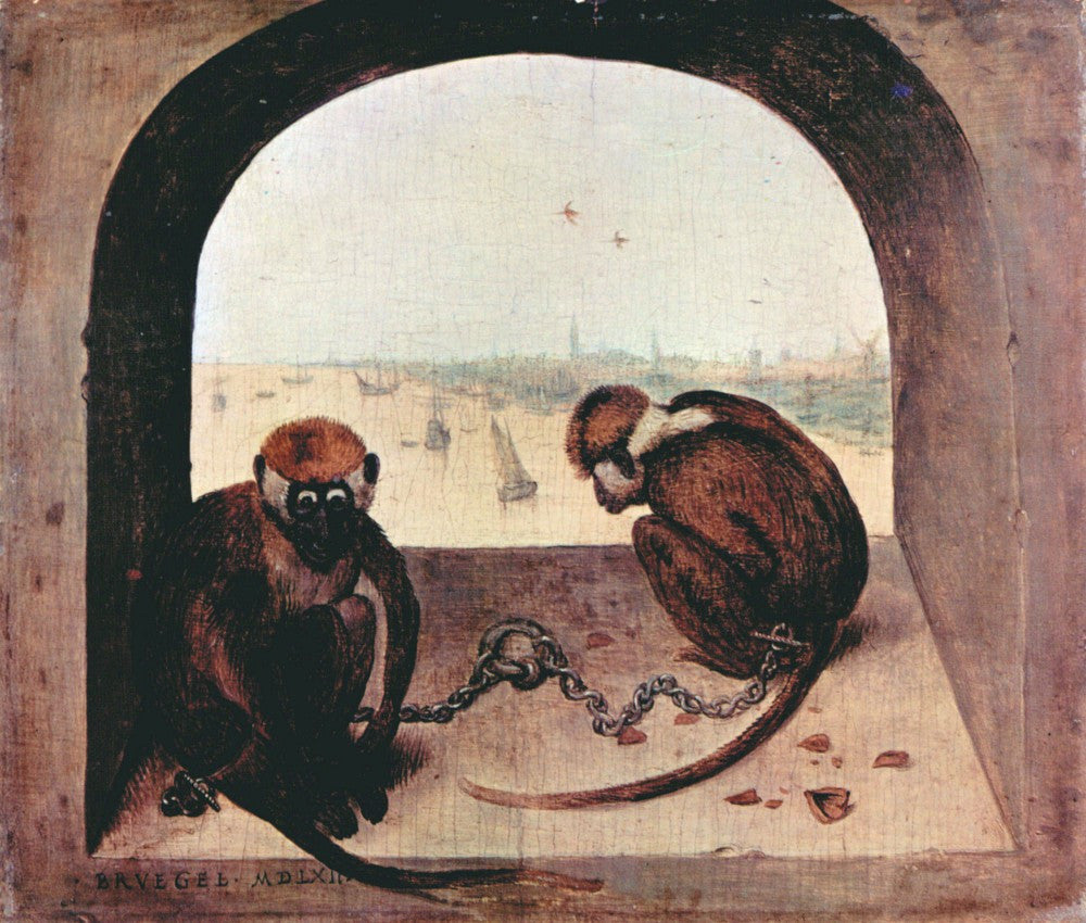 The Museum Outlet - Two monkeys by Pieter Bruegel