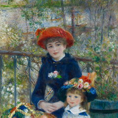 100% Hand Painted Oil on Canvas - Two sisters on the terrace 2 by Renoir