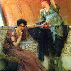 The Museum Outlet - Unconscious rivals, detail by Alma-Tadema