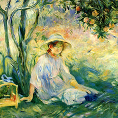 100% Hand Painted Oil on Canvas - Under the Orangetree by Morisot