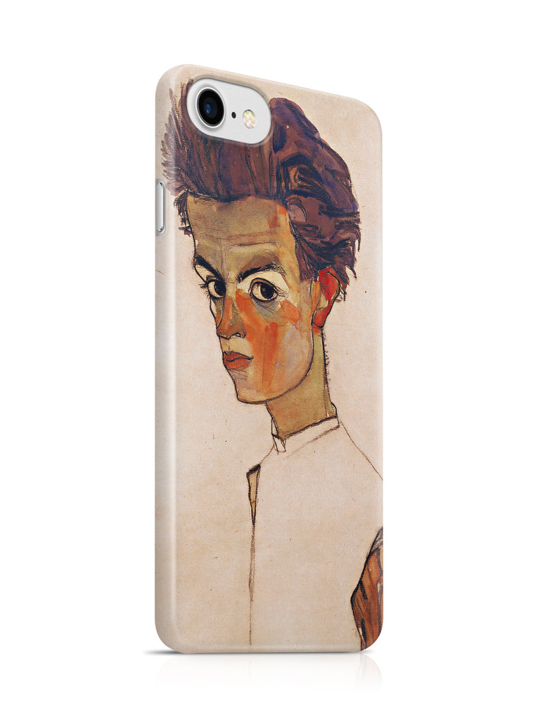Vinteja Officially Licensed - Egon Schiele - Self portrait with striped shirt - Curated Case Cover For IPHONE 6/6S