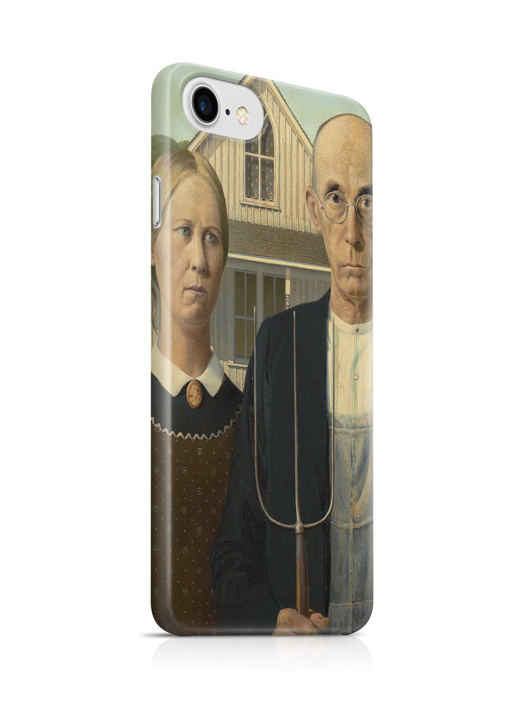 Vinteja Officially Licensed - Grant Wood - American Gothic - Curated Case Cover For IPHONE 7