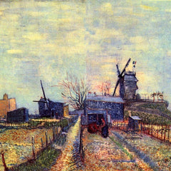 The Museum Outlet - Vegetable gardens on the Montmartre by Van Gogh