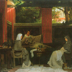 The Museum Outlet - Venantius Fortunatus contributes Radegund VI  by Alma-Tadema