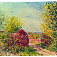 100% Hand Painted Oil on Canvas - Veneux-Nadon in the spring by Sisley