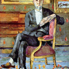 The Museum Outlet - Victor Chocquet seated portrait by Cezanne