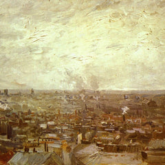 100% Hand Painted Oil on Canvas - View from Montmartre by Van Gogh