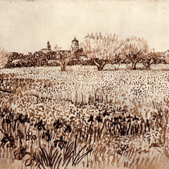 100% Hand Painted Oil on Canvas - View of Arles by Van Gogh