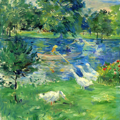 100% Hand Painted Oil on Canvas - View of Bois de Boulogne by Morisot