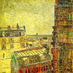 The Museum Outlet - View of Paris from Vincent s Room in the Rue Lepic