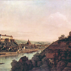 The Museum Outlet - View of Pirna [1] by Canaletto