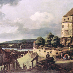 The Museum Outlet - View of Pirna [2] by Canaletto